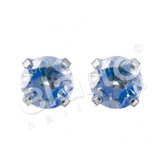 Kolczyki cyrkonia - neon niebieska 7592-0165