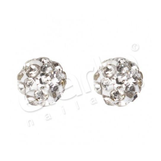 Kolczyki kuleczka z kryształkami 7522-0304