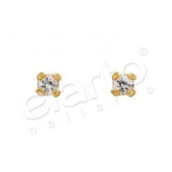Kolczyki cyrkonia w pazurkach złote 2mm 7531-0100