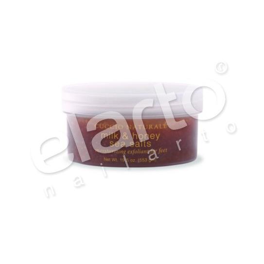 Sól morska/peeling do stóp miód&mleko 585ml