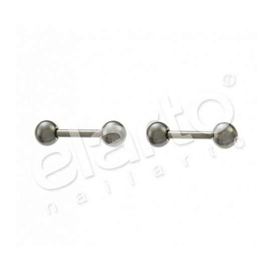 Kolczyki sztanga z kulką srebrne 7512-2300