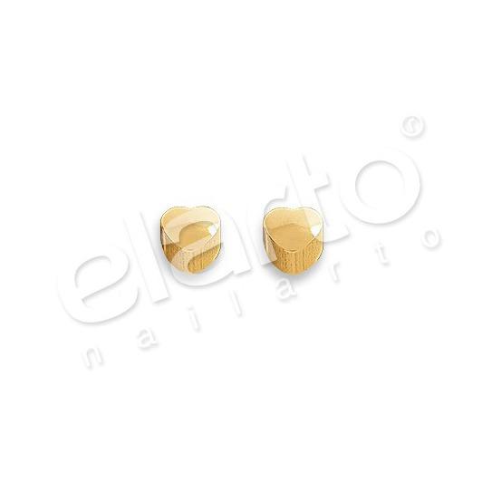 Kolczyki serduszko złote 2 szt. R 502 Y