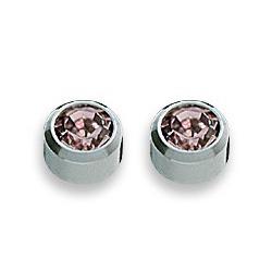 Kolczyki aleksandryt w srebrnej oprawie 2 szt. R 206 W