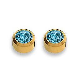 Kolczyki akwamaryn w złotej oprawie 2 szt. R 203 Y