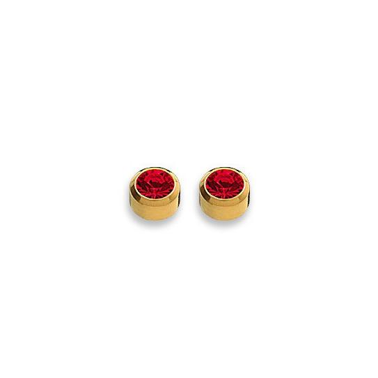 Kolczyki rubin w złotej oprawie 2 szt. R 207 Y