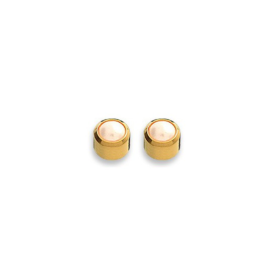 Kolczyki biała perełka w złotej oprawie 2 szt. R 301 Y