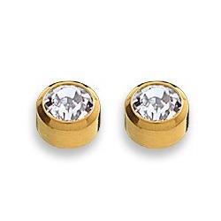 Kolczyki kryształ górski w złotej oprawie 2 szt. R 215 Y
