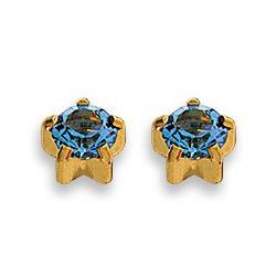 Kolczyki szafir w złotych pazurkach 2 szt. R 109 Y