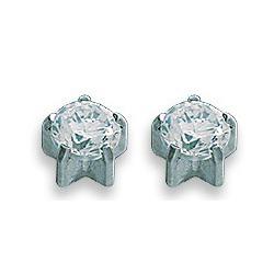 Kolczyki brylant w srebrnych pazurkach 2 szt. R 104 W