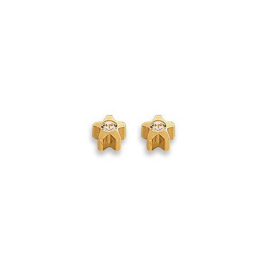 Kolczyki złota gwiazdka z brylantem 2 szt. R 501-4 Y