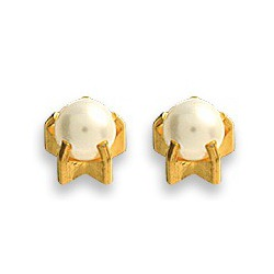 Kolczyki perełki w złotych pazurkach 2 szt. R 1301 Y