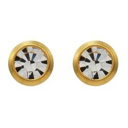 Kolczyki brylant w złotej oprawie 2mm R 139 Y
