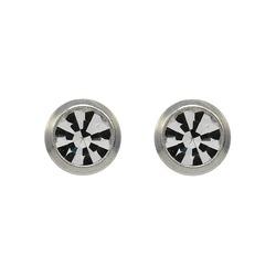 Kolczyki brylant w srebrnej oprawie 2 mm R140 W