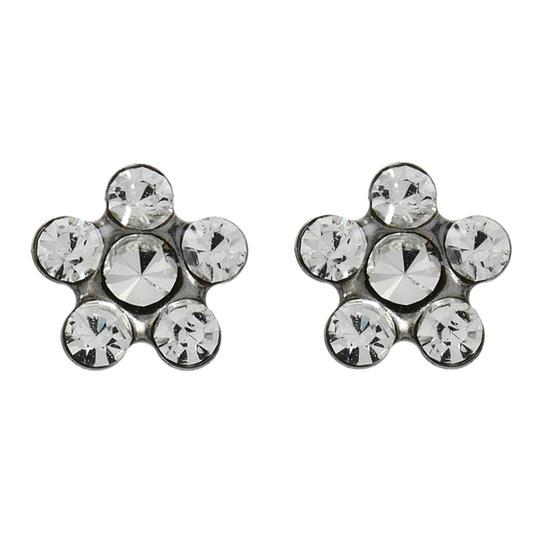 Kolczyki stokrotka srebrne z brylantami 2 szt R 154 W