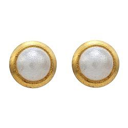 Kolczyki perełki w złotej oprawie (4mm) 2 szt. R 145 Y