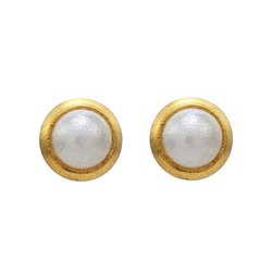 Kolczyki perełki w złotej oprawie mini (2mm) 2 szt. M 144 Y