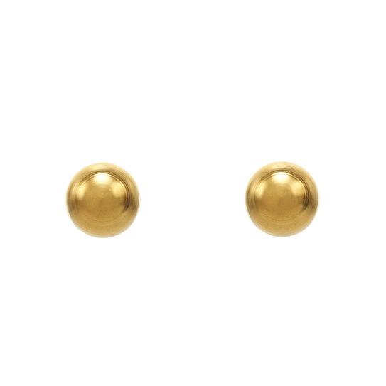 Kolczyki mini kulki złote (3mm) 2 szt. M 186 Y