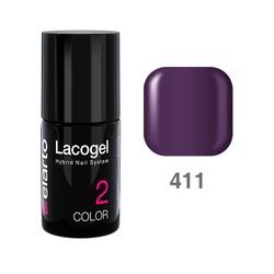 Lakier hybrydowy Lacogel nr 411 - fioletowy 7ml