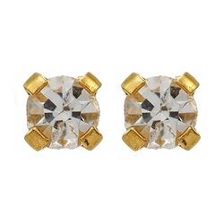 Kolczyki z brylancikiem 4mm w złocie 2szt 7511-0104 131