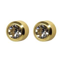 Kolczyki Baby z brylancikiem w złocie 2szt 7581-02044