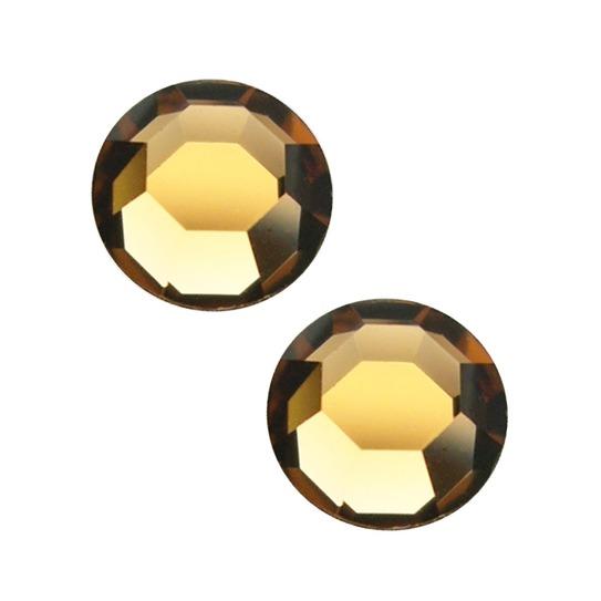 Light Topaz SS 3 złote 100szt