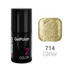 Żel hybrydowy GelPolish nr 714 - jasne złoto brokat 7ml