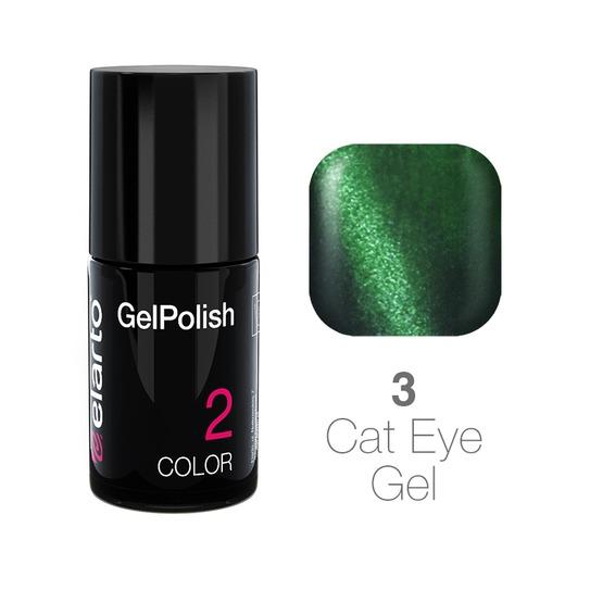 Żel hybrydowy GelPolish Cat Eye Gel nr 3 - zielony 7ml