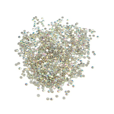 Cyrkonie do paznokci Crystal AB SS 10 (srebrne opal.) 1440szt