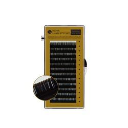 Rzęsy jedwabno-syntetyczne czarne Mink C 12x0,10