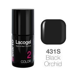 Lakier hybrydowy Lacogel nr 431S - Black Orchid 7ml