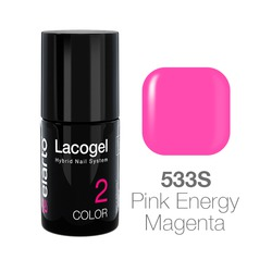 Lakier hybrydowy Lacogel nr 533S - Pink Energy Magenta 7ml