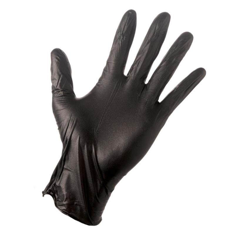 c9775db1279fbb L Master Glove czarne; Rękawiczki nitrylowe bezpudrowe (L) 100szt