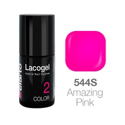 Lakier hybrydowy Lacogel nr 544S - Amazing Pink 7ml
