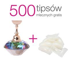 Stojak magnetyczny / holder diament opal + 500 tipsów