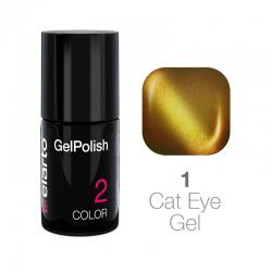 Żel hybrydowy GelPolish Cat Eye Gel nr 1 - złoty 7ml