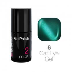 Żel hybrydowy GelPolish Cat Eye Gel nr 6 - turkusowy 7ml