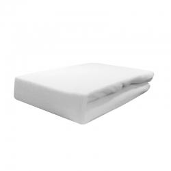 Pokrowiec welurowy na fotel / łóżko kosmetyczne 70x190x10cm, biały