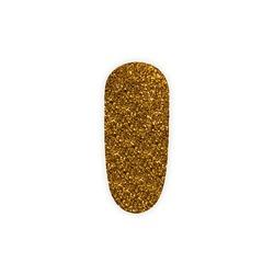 Brokat w fiolce - złoty ciemny pyłek