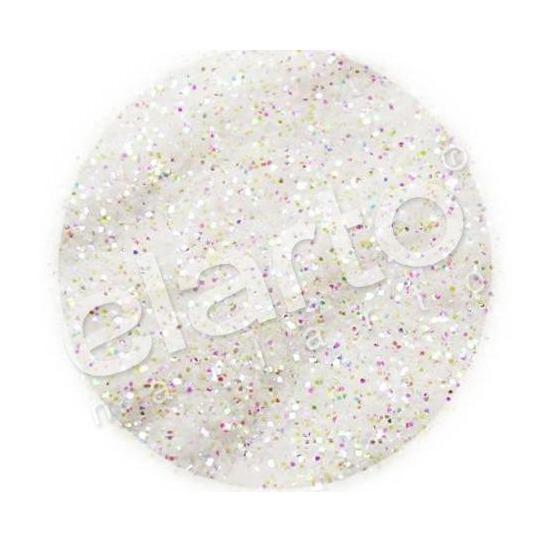 Brokat w fiolce - biały opaliz. na mix kolorów standard