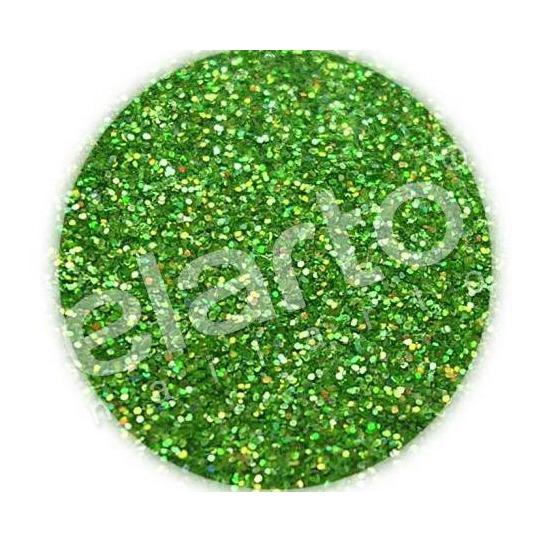 Brokat w fiolce - zielony hologramowy standard