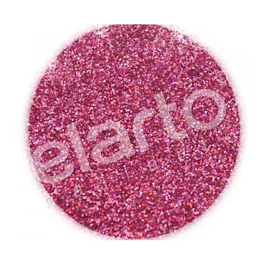Brokat w fiolce - różowy hologramowy standard