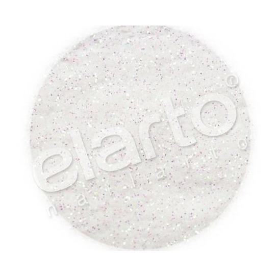 Brokat w fiolce - biały opaliz. na różowo/zielono pyłek