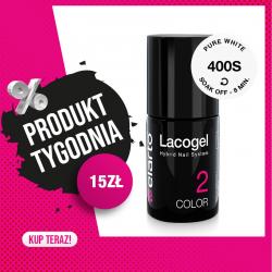 Lakier hybrydowy Lacogel nr 400S - Pure White 7ml