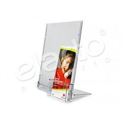 Tabliczka / prezenter A4 wraz z kieszenią na ulotki bezbarwna