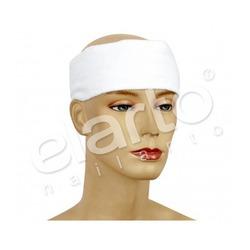 Opaska kosmetyczna frotte biała