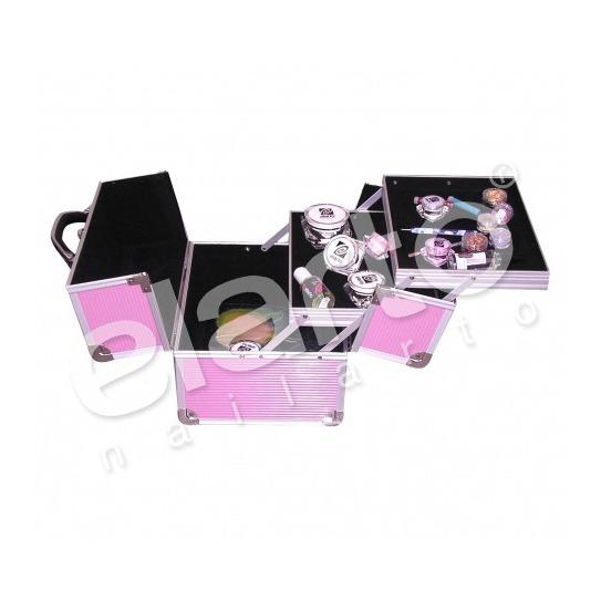 Kufer kosmetyczny / walizka na lampę UV różowy