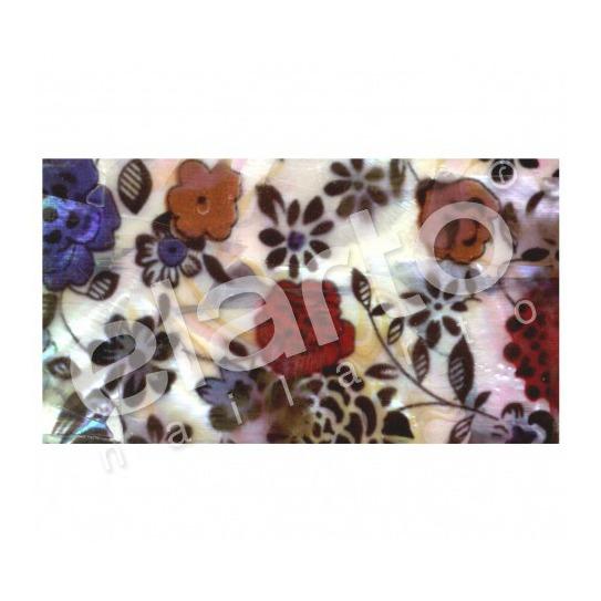Taśma perlmutowa / muszlowa kwiaty