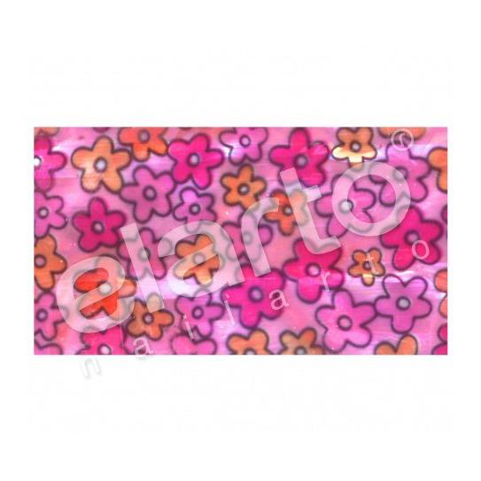 Taśma perlmutowa / muszlowa kolorowe kwiatuszki