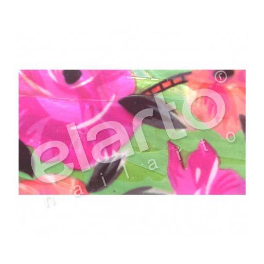 Taśma perlmutowa / muszlowa barwne kwiaty