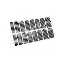Metaliczna naklejka Minx - czarne skośne paski (39)